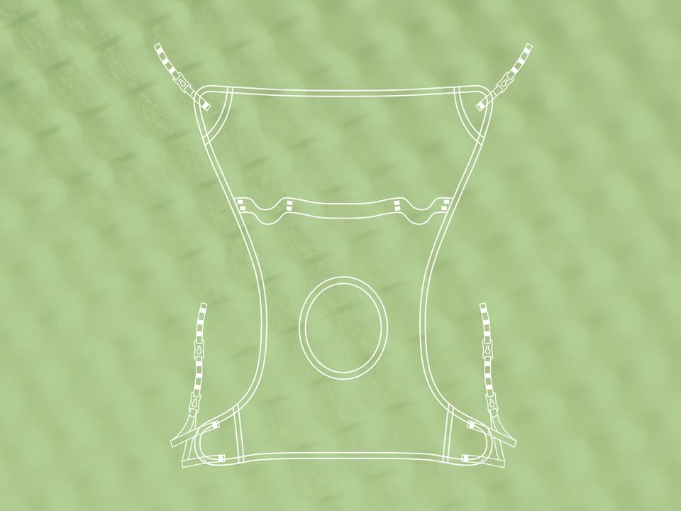MySling hammock line drawing